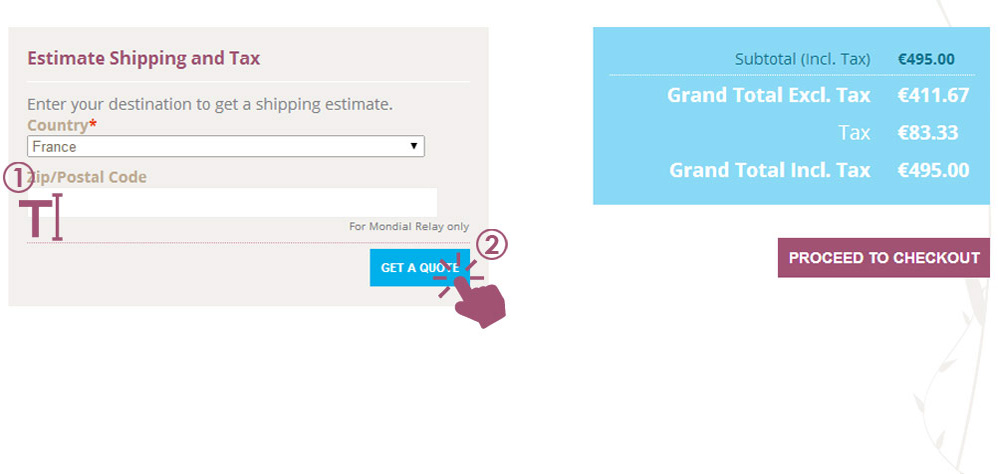 Get shipping rate info