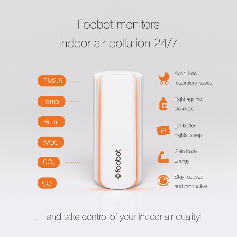 Foobot monitors indoor air pollution