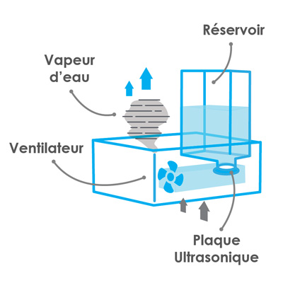 humidificateur à brume ou ultrasonic